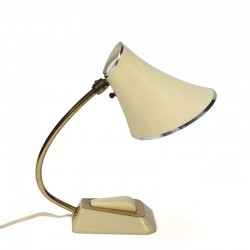 Vintage table lamp fifties cream