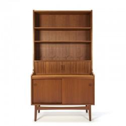 Danish vintage teak bookcase / secretary