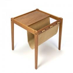 Danish vintage side table/ newspaper rack