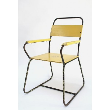 Yellow/ metal child's chair