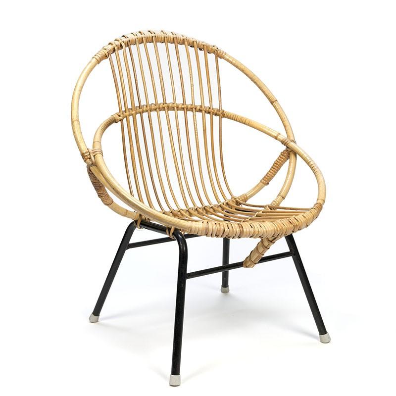 klein model vintage rotan stoel - retro studio