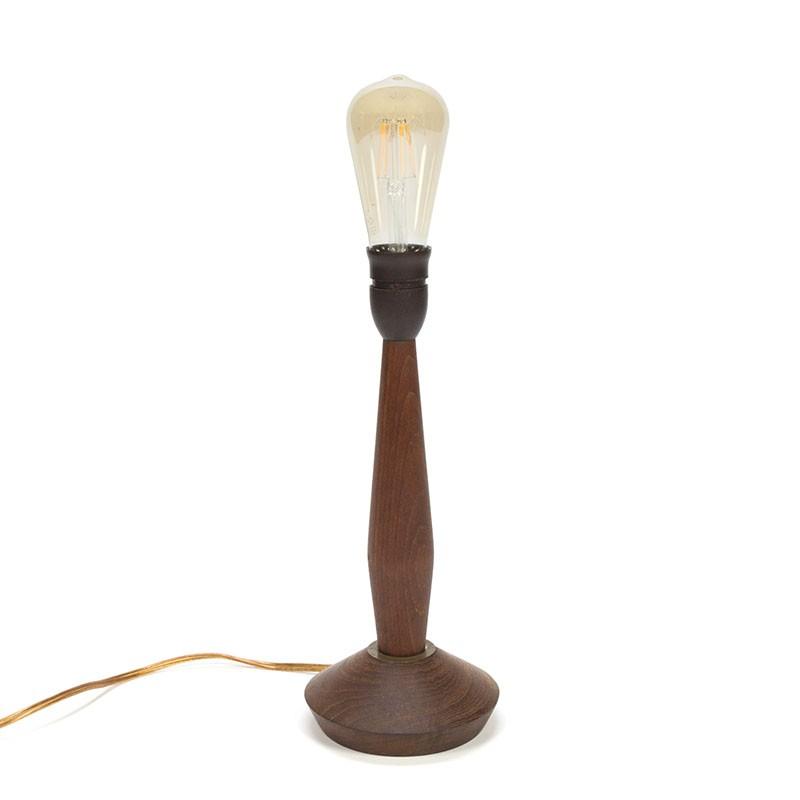 Teakhouten Deense vintage tafellamp