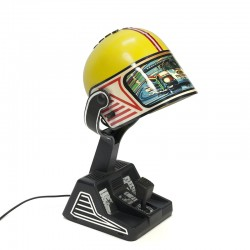 Vintage race helmet table lamp design Fase