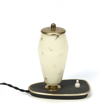 Vintage vijftiger jaren tafellampje