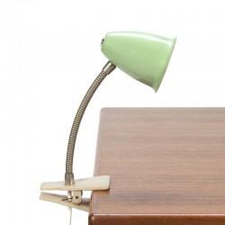 Vintage groen Hala Zeist klemlampje