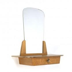 Vintage spiegel met lade vijftiger jaren