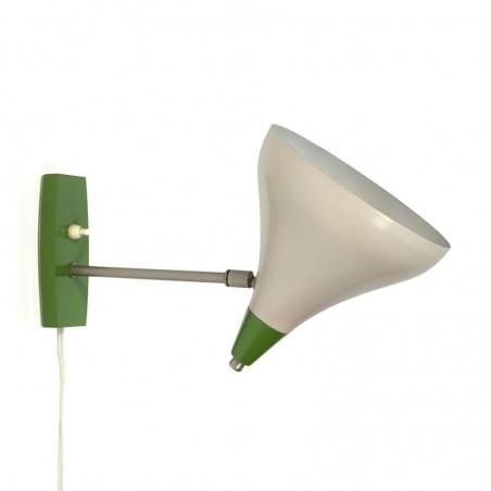 Vintage zestiger jaren wandlamp groen detail