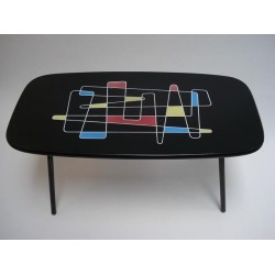 Coffeetable with 50's print