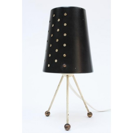 Black table lamp 1950's