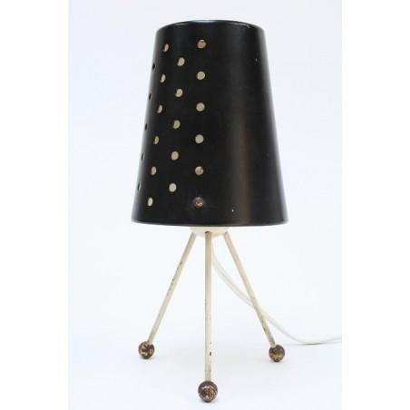Zwart jaren 50 tafellampje