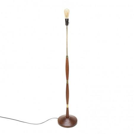 Deense vintage vloerlamp van teakhout