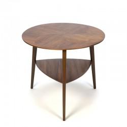 Deens vintage tafeltje met ingelegd houten blad