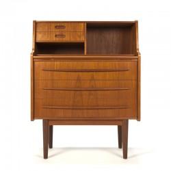Narrow model vintage Danish secretary