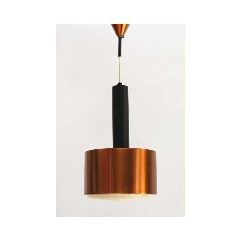 Brass/ black metal hanging lamp