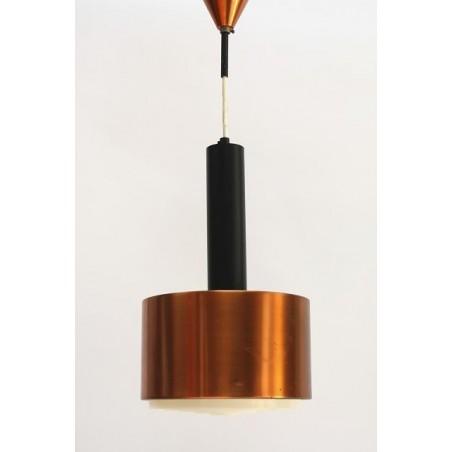 Koper/ zwarte metalen hanglamp