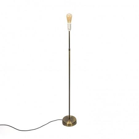 Minimalist vintage brass floor lamp