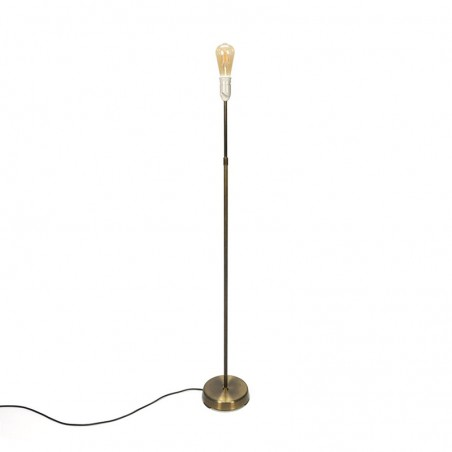 Minimalistische vintage messing vloerlamp