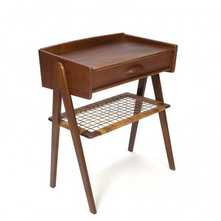 Teakhouten Deens vintage klein kastje