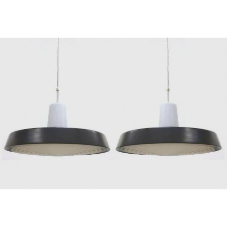 Set of 2 industrial hanging lamps