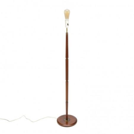 Staande vintage Deense lamp in teak