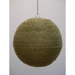 Sugar-like hanging lamp green/yellow