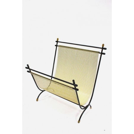 Metal magazine holder yellow