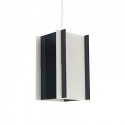 Vintage plexiglass cubist hanging lamp