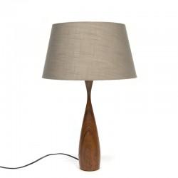 Danish vintage table lamp with teak foot