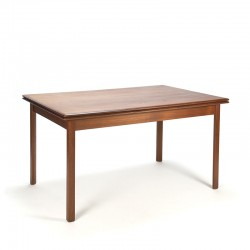 Teak Danish vintage extendable dining table