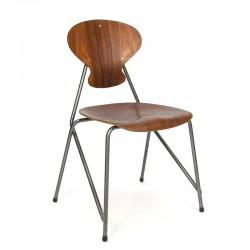 Deense vintage industrieel design stoel uit 1954
