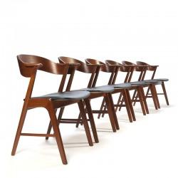 Vintage set van 6 stoelen design Kai Kristiansen