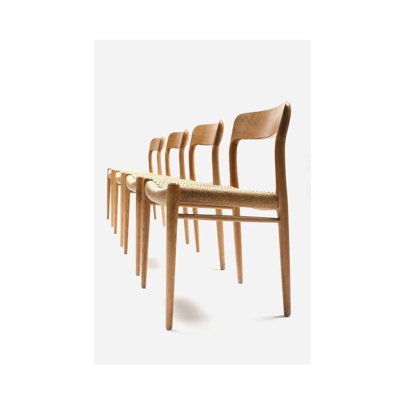 Set vintage Niels O. Møller chairs