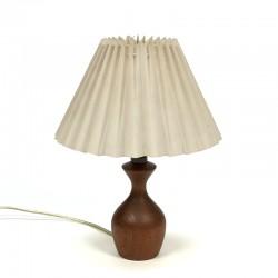 Small teak vintage Danish table lamp