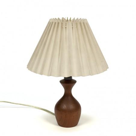 Kleine teakhouten vintage Deense tafellamp