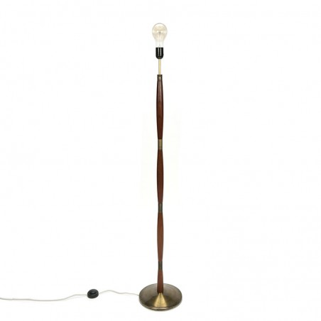 Vintage Danish floor lamp with brass base