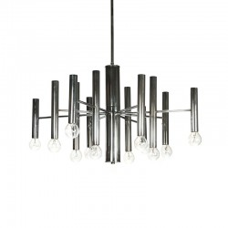 Vintage chrome hanging lamp Sciolari style