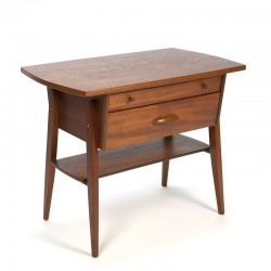 Danish teak vintage cabinet with 2 drawers