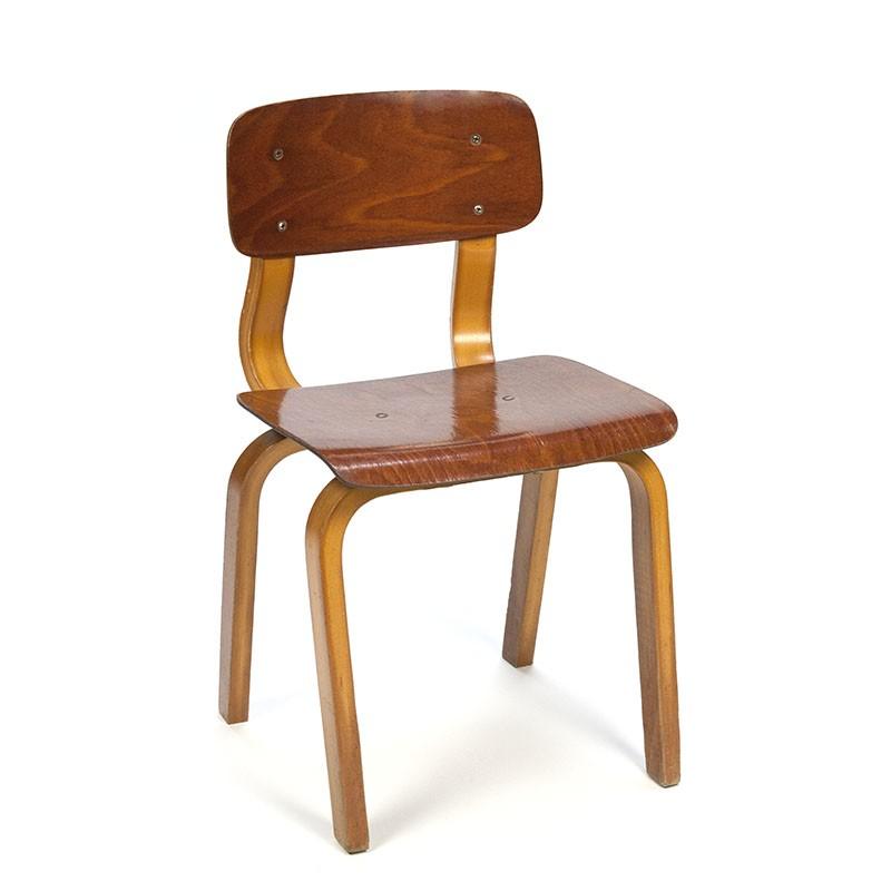 Vintage plywood child's school chair