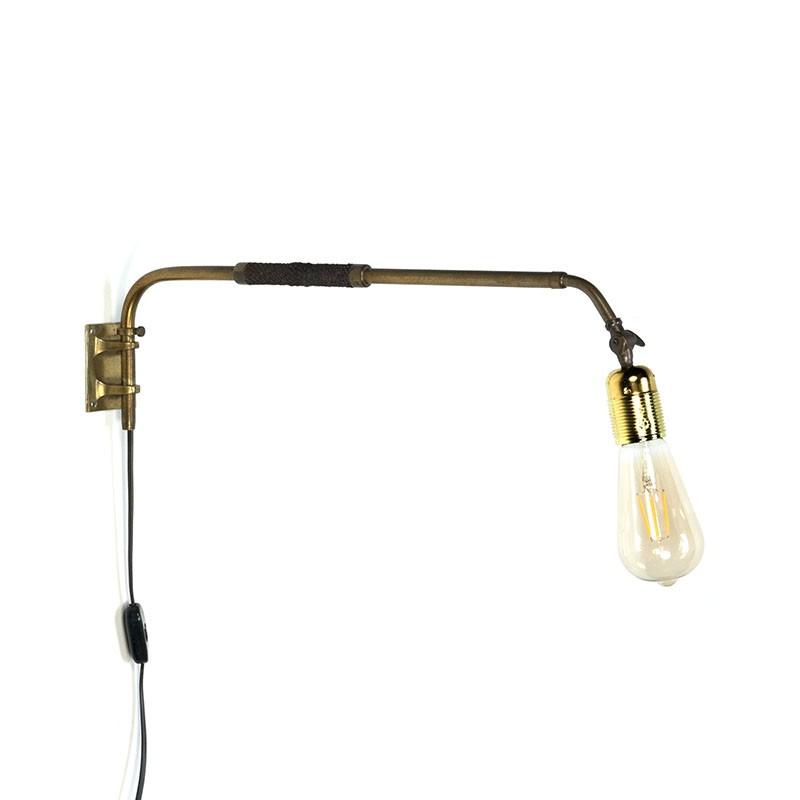 Danish vintage brass wall lamp