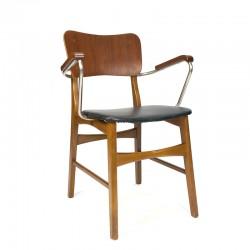 Deense vintage design bureaustoel met armleuning