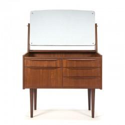 Danish dressing table in teak vintage design