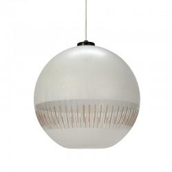 Bewerkte glazen vintage bol lamp