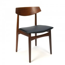 Solid teak Danish vintage dining table chair