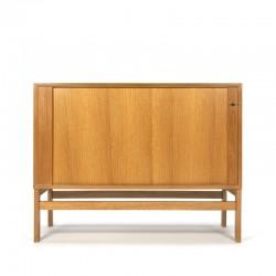 Oak vintage low model filing cabinet brand Vifa