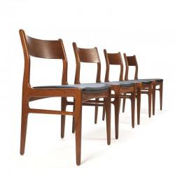Funder-Schmidt en Madsen set van 4 vintage stoelen