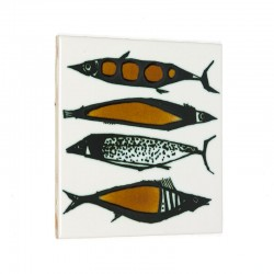 Vintage tile with fish
