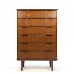Teak Danish vintage chest of drawers large model