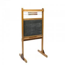 Vintage kinder school krijtbord met telraam
