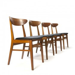 Set van 4 vintage Deense Farstrup 210 stoelen