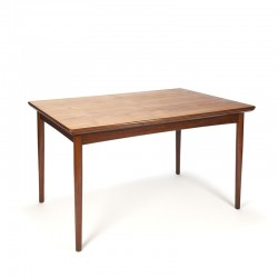 Extendable Danish vintage dining table in teak